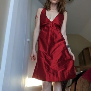 100% silk BCBG MaxAzria red dress